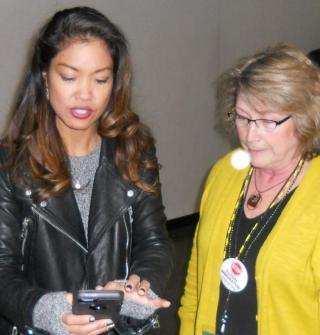 Malkin talked about Oregon's big defeat of driver cards for illegal aliens during her speech.  Afterwards, Michelle Malkin requested her picture be taken with Cynthia - Authorized Agent for the citizen's veto referendum.