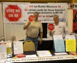 Candidate Mike Nearman and Jerry spend time volunteering in the booth