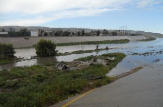 El Bordo - between the U.S. border fence and Tijuana - a no mans land of despair on the banks of the Tijuana River