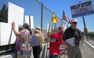 Jim Ludwick - Oregonians for Immigration Reform joins the protest