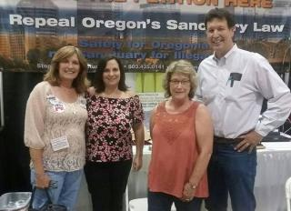 From the laft:  ORP VP Chris Barreto, from Washington DC, FAIR's State Legislative Advisor Shari Rendall, OFIR President, Cynthia Kendoll and Rep. Greg Barreto