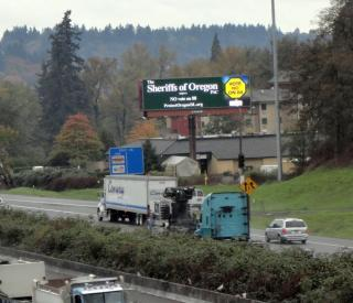 Sheriffs of Oregon billboard on I-205 in Portland, Oregon