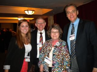 From the right: Dan Stein, President of FAIR, Cynthia Kendoll, President of OFIR, Roy Beck, President of NumbersUSA and Gabriella Morrongiello, student at OSU