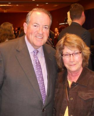 Governor Huckabee was a popular guy at the reception following the Freedom Rally