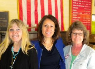 Maria Espinosa, co-founder of The Remembrance Project (center), Katherine Stone (left) and Cynthia Kendoll (right)