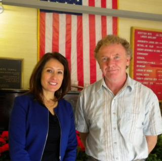 Maria Espinoza with District 18 candidate David Darnell