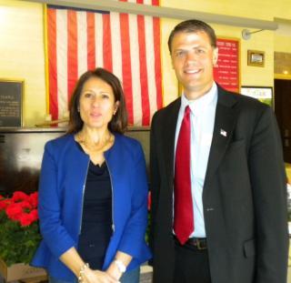 Maria Espinoza and Congressional candidate Mark Callahan