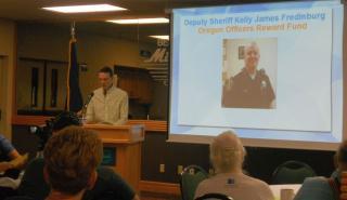 OFIR VP Rick LaMountain explains the tragic death of Sheriff Deputy Kelly Fredinburg - and OFIR's contribution to the Reward fund